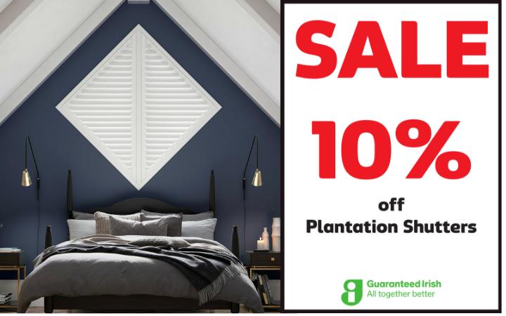 10% off Plantation Shutters