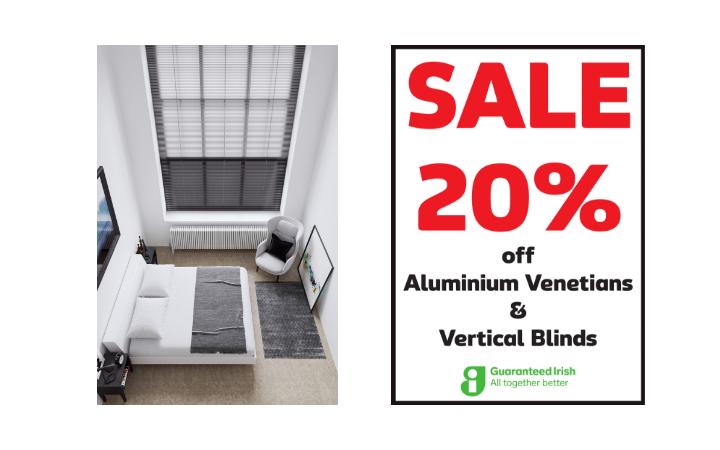 20% off Aluminium Venetian Blinds
