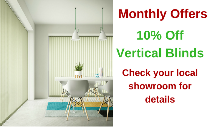 10% off all Vertical Blinds