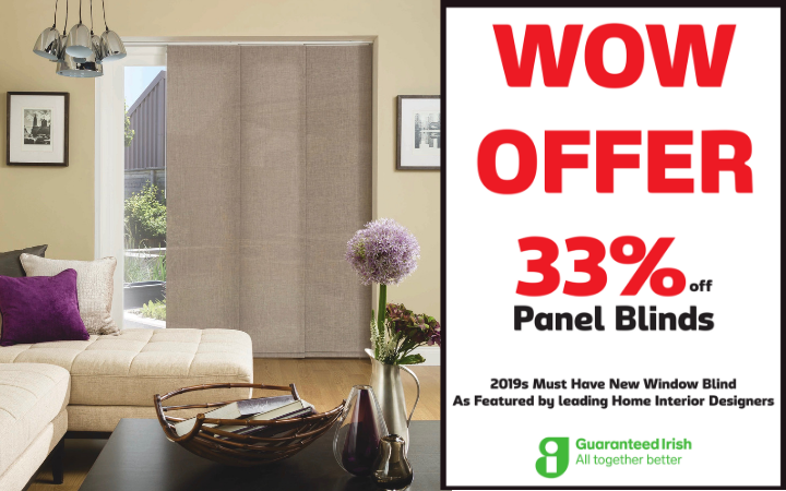 33% off Panel Blinds