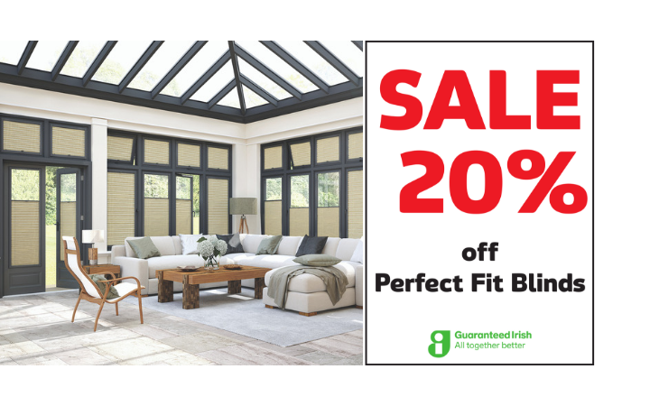 20% off Perfect Fit Blinds