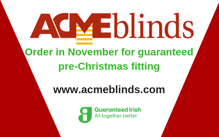Order in November for guaranteed pre-Christmas fitting-selected ranges only