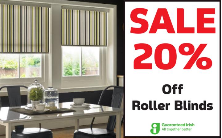 20% off Roller Blinds