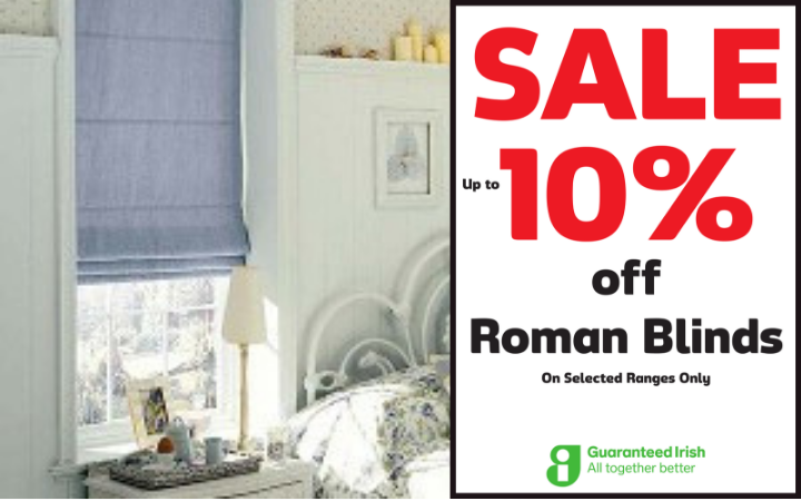 10% off Roman Blinds