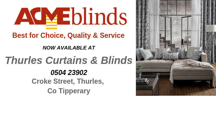 Now available in Thurles Curtains & Blinds