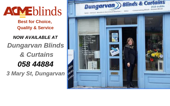 Now available in Dungarvan